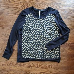 Kensie Gold Embroidered Shirt